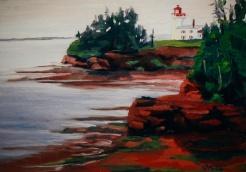 "#179, Port la Joye, PEI, 12""x16"", Oil on Canvas, $355.00"