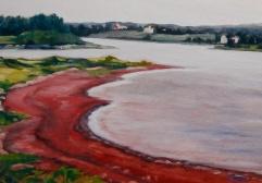 """Green Park beach, PEI, #180, 12""""x16"""", Oil on canvas, $355.00"""