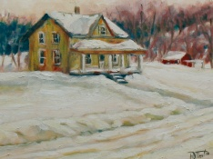 "194, Winter's Charms, 11""x14"", Oil on canvas, $325.00"