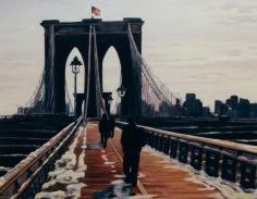 "#200, Brooklin Bridge, NY II, 20""X24"", oil on gallery canvas, $595.00"