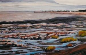 """#230, Quai rivière Ouelle, 20""""x26"""", oil on canvas, $625.00"""
