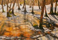 "#234, Flozen pond, 18""x24"", oil on canvas"