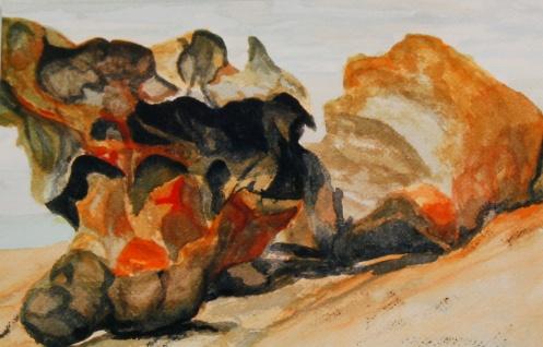 "#283, Remarkable Rock, Kangaroo Isl. AU, 9""x12"", W/C, $195.00"