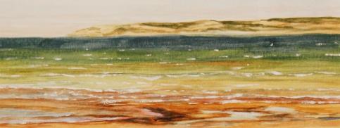 "#260, By the sea, Kangaroo Island, AU, 4.5""x12"", W/C, $145.00"