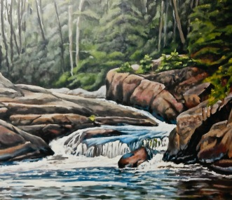 """#302, Beautiful Song, Riv Langevin, QC, 30""""x40"""", oil on gal canvas"""