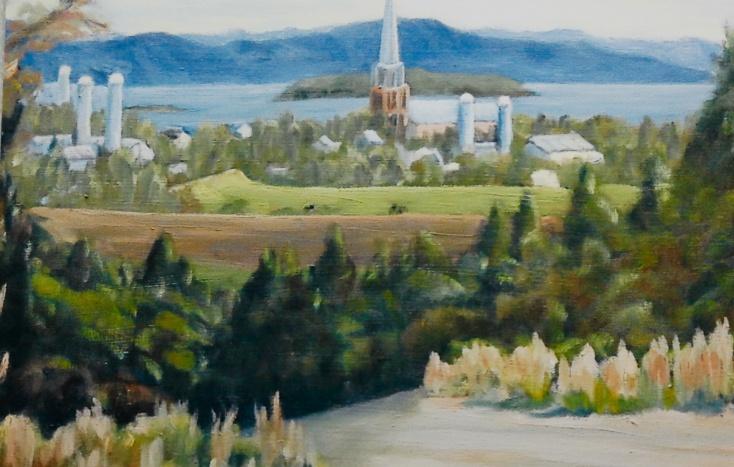 "#307, Kamouraska XIII, 12""x16"", oil on canvas, $325.00"