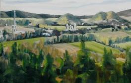 "#309, Kamouraska XIII, 8""x16"", oil on canvas, $275.00"