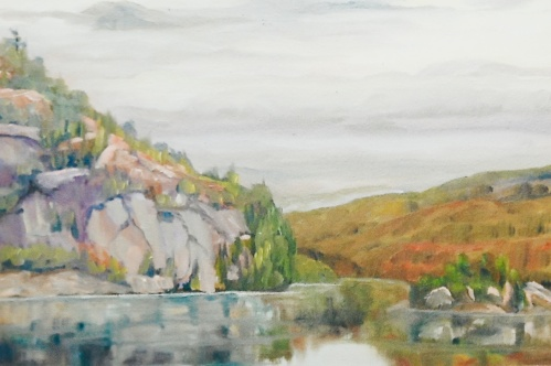 """#316, Big Rock, Clear Lake, ON, 12""""x16"""", oil on canvas"""