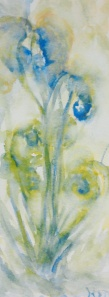 "#359, Unferling ferns, 3.5""X9"", w/c, $80.00"