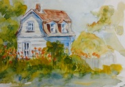 """#387, Our history, 9""""x12"""", w/c, $180.00"""