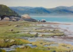 "#404, Board de mer, Kamouraska, 12""x16"", oil on canvas, $430.00"
