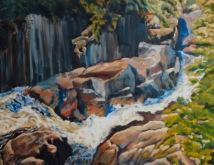 """#410, Precipice riv. Chicoutimi, 24""""x30"""", oil on galery canvas, $725.00"""