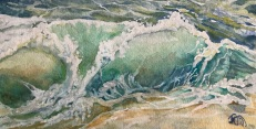 """$455- Wave I, Study, Watercolour and gouache, Study, 11""""x6"""", $95.00"""